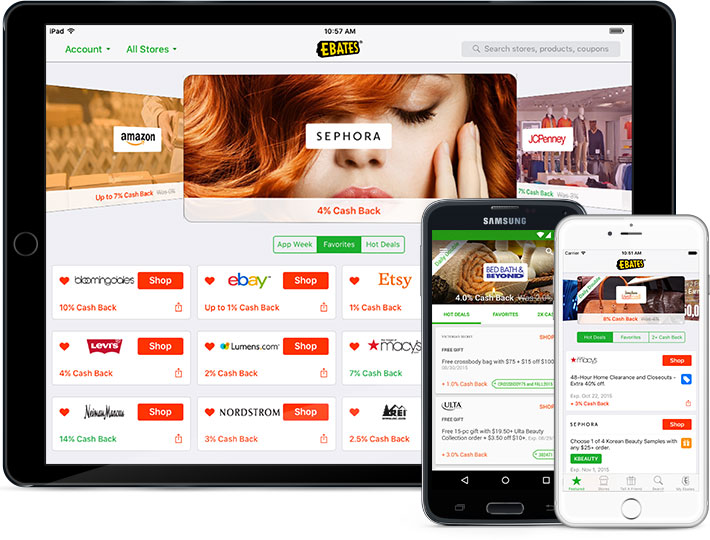 Ebates for iPhone, Android, iPad
