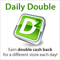 Click to see today's double cash back offer!