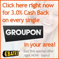 Save at Groupon with Coupons and Cash Back from Ebates!
