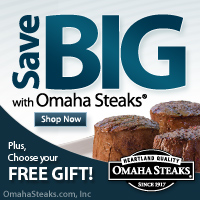 Get a great deal at Omaha Steaks with Coupons and Cash Back from Ebates!
