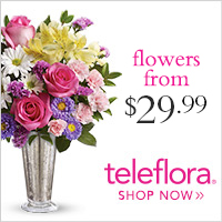 Get a great deal at Teleflora with Coupons and Cash Back from Ebates!