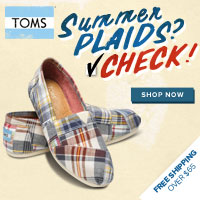 Get a great deal at TOMS with Coupons and Cash Back from Ebates!