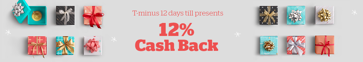 Today Only! Get 12% Cash Back