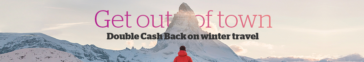 Get Double Cash Back on Winter Travel