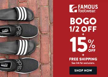 Shop at Famous Footwear with 2.0% Cash Back