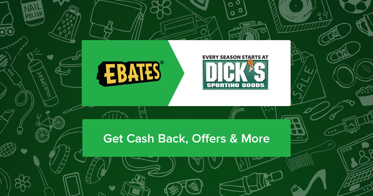 Dicks Sporting Goods Coupons, Promo Codes & 3.0% Cash Back | Ebates
