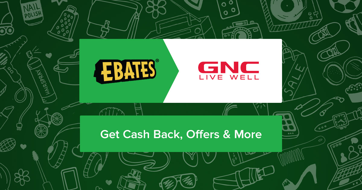 GNC 10.0% Cash Back + Coupons