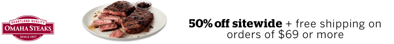 Get a great deal from Omaha Steaks plus 3.5% Cash Back from Rakuten!