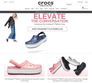 Crocs Coupons, Promo Codes + 4.0% Cash Back