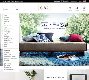 Cb2 Free Shipping >> Up To 20 Off Cb2 Coupons Promo Codes 1 0 Cash Back