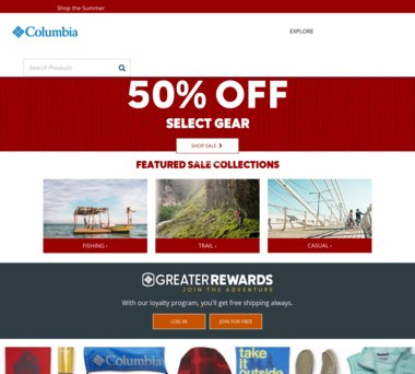 Get a great deal from Columbia Sportswear plus 4.0% Cash Back from Ebates!