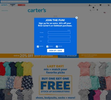 Up To 70 Off Carters Coupons Promo Codes 1 5 Cash Back