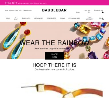 Up to 80% Off BaubleBar Coupons, Promo Codes + 1 5% Cash Back