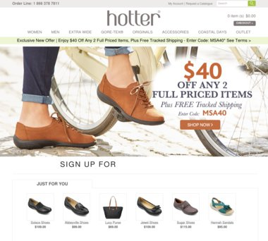 Off Hotter Shoes Coupons, Promo Codes