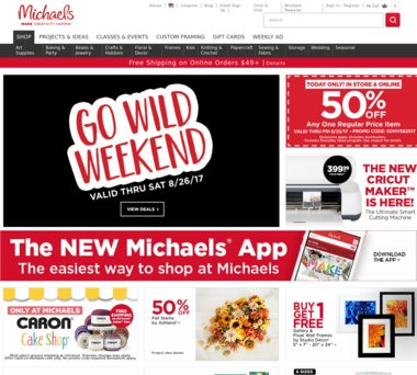 Up To 70 Off Michaels Coupons Promo Codes 2 5 Cash Back