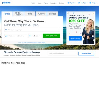 Up to 40% Off Priceline Coupons, Promo Codes + 5 0% Cash Back