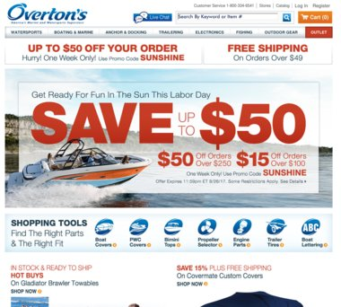 Up to 50% Off Overtons Coupons, Promo Codes + 2 0% Cash Back