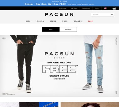 19edd6c9b Up to 70% Off PacSun.com Coupons, Promo Codes + 1.0% Cash Back