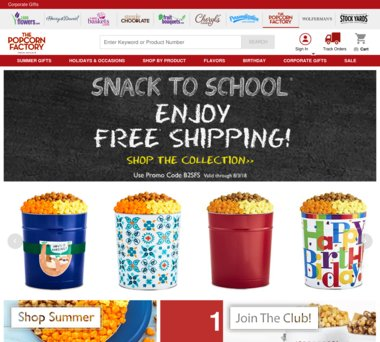 Up to 33% Off The Popcorn Factory Coupons, Promo Codes + 5 0% Cash Back
