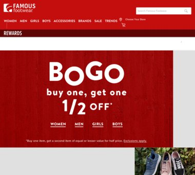 Famous Footwear Coupons, Promo Codes