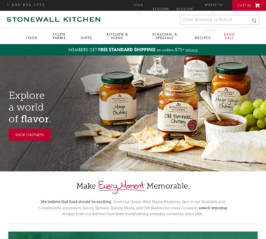 Up to 70% Off Stonewall Kitchen Coupons, Promo Codes + 5.0% Cash Back