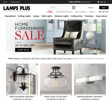 Up To 70% Off LAMPS PLUS Coupons, Promo Codes + 3.0% Cash Back