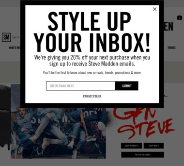 2c52d5f58a1 Up to 20% Off Steve Madden Coupons