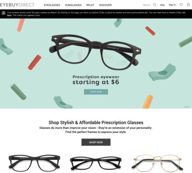 dcb1d89098 Up to 50% Off EyeBuyDirect.com Coupons