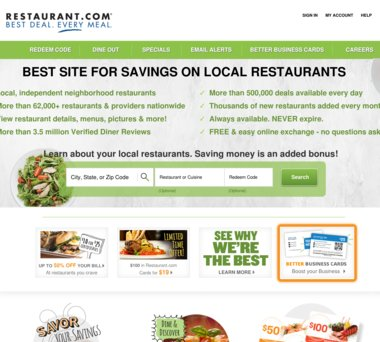 Up To 84 Off Restaurant Com Coupons Promo Codes 10 0