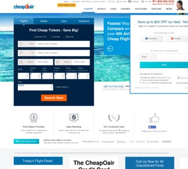 Up to $150 Off CheapOair Coupons, Promo Codes + $12 50 Cash Back