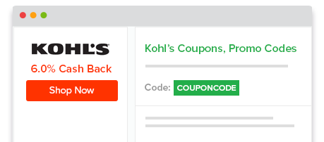 Shop through Ebates